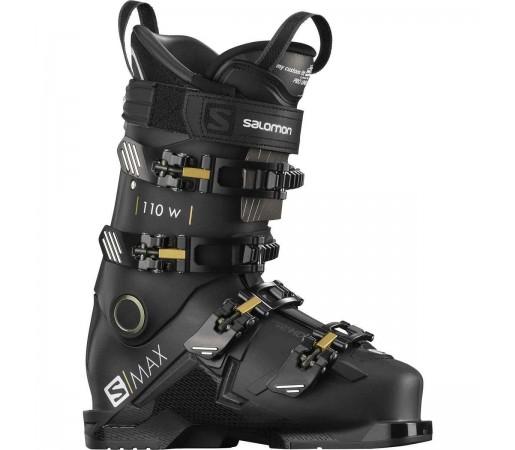 Salomon Clapari Ski S/MAX 110 W Femei Negru