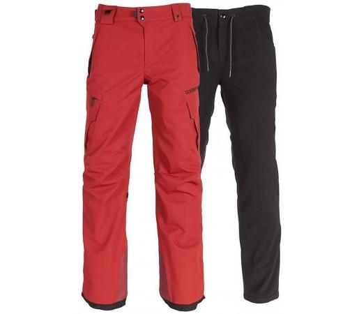 Pantaloni Snowboard Barbati 686 Smarty Cargo Rosu / Gri Inchis