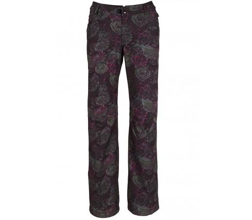 Pantaloni Snowboard Femei 686 Gossip Softshell Negru / Rose Print
