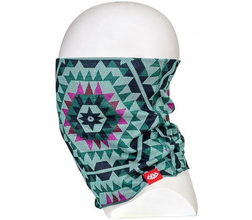 Neck Tube Ski si Snowboard Femei 686 Roku Face Gaiter Maro / Verde