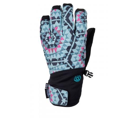 Manusi Femei Snowboard 686 Infiloft Majesty Glove Negru / Turcoaz