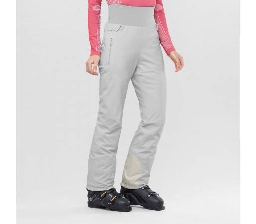Salomon Pantaloni Ski ICEFANCY PANT Femei Alb