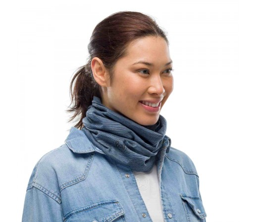 Bandana Unisex Buff Lightweight Wool Ensign Multi Stripes (Albastru)