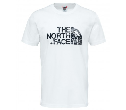 Tricou The North Face Woodcut Dome S/S M Alb / Negru