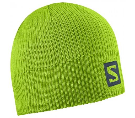 Caciula Salomon Logo Beanie M Verde Deschis