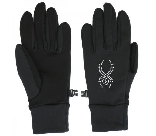 Manusi Spyder Stretch Fleece Conduct Negru/Argintiu