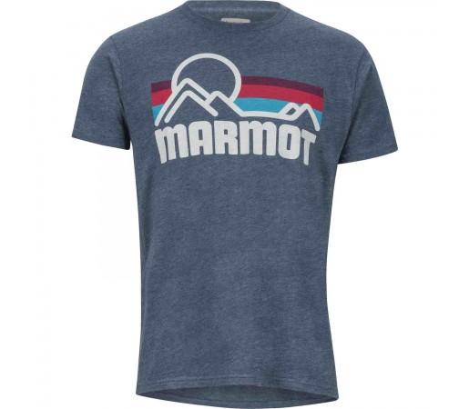 Tricou Drumetie Barbati Marmot Marmot Coastal Tee SS Navy Heather (Bleumarin)