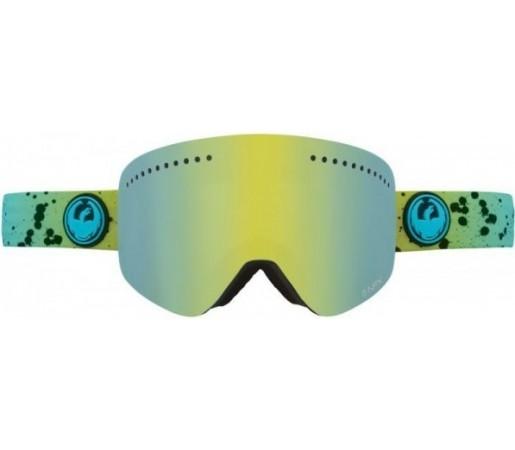 Ochelari Schi si Snowboard Dragon NFX Splatt Verde / Smoke Gold + Yellow Blue Ion