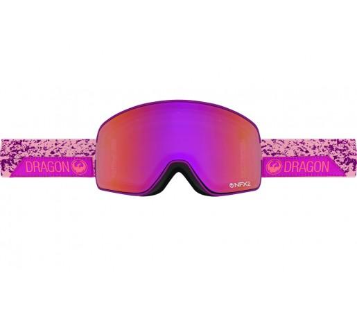 Ochelari schi si snowboard Dragon NFX2 Stone Pink / Purple Ion + Pink Ion