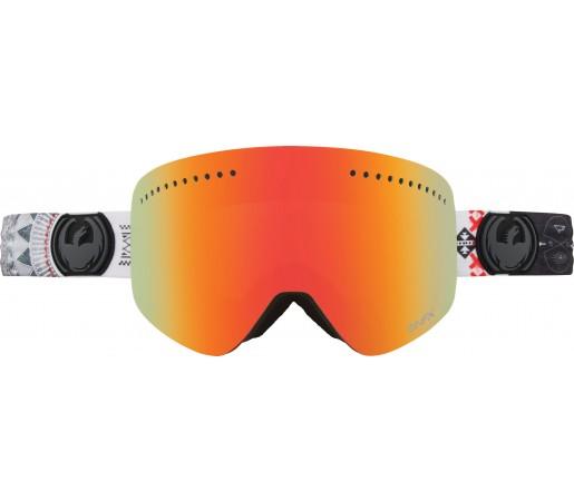 Ochelari Schi si Snowboard Dragon NFX TJ Schiller Gri / Red Ion+ Yellow Blue Ion