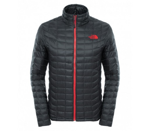 Geaca The North Face M Thermoball Full Zip Gri/Rosu