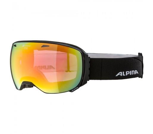 Ochelari Schi si Snowboard Alpina Big Horn QHM black matt/red saphire