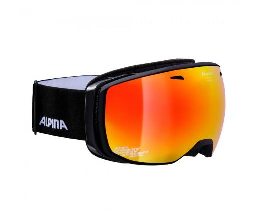 Ochelari Ski si Snowboard Alpina Estetica Black Matt MM Red