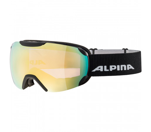 Ochelari Schi si Snowboard Alpina Pheos Multilens QVM+Q black matt/gold