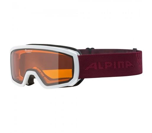 Ochelari Schi si Snowboard Alpina Scarabeo JR DH white cassis
