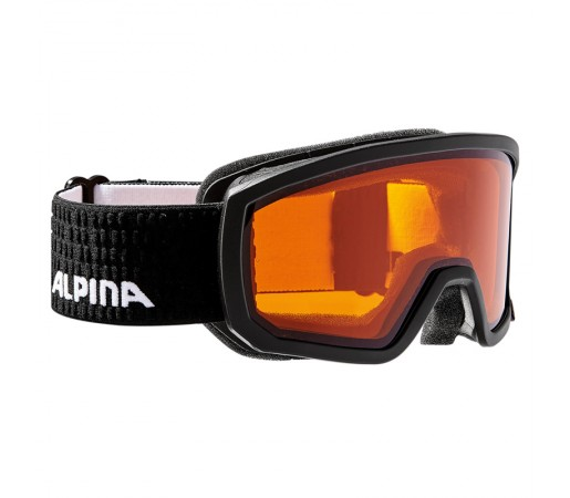 Ochelari Schi si Snowboard Alpina Scarabeo JR DH Black/Black Dots