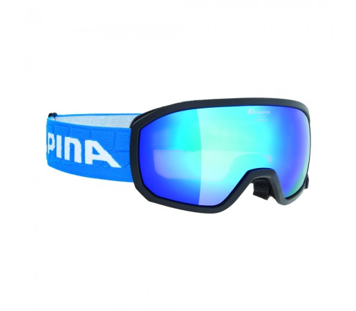 Ochelari Ski si Snowboard Alpina Scarabeo Jr Black MM Blue