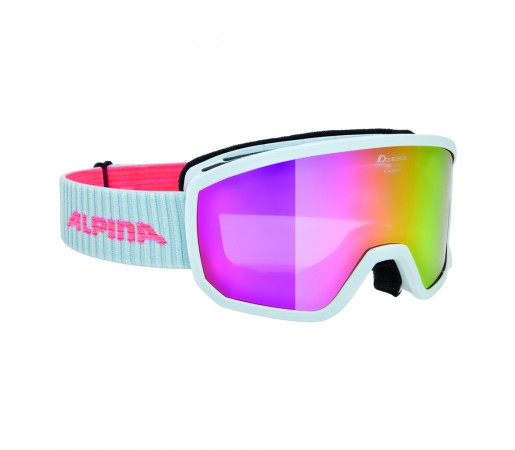 Ochelari Ski si Snowboard Alpina Scarabeo S White MM Pink