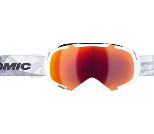 Ochelari de schi si snowboard Atomic Revel 3 M Marcel Alb/ Rosu
