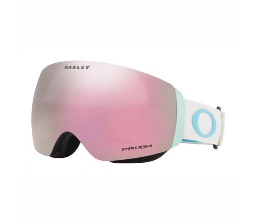 Oakley Ochelari Ski Flight Deck XM Grey Sapphire Prizm Snow High Intensity Pink Femei Alb