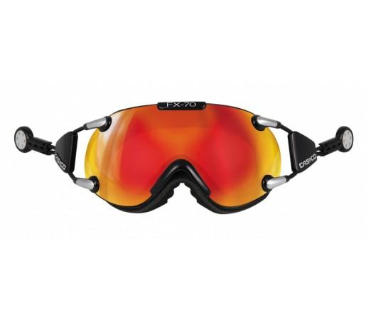 Ochelari Schi si Snowboard Casco FX 70 Carbonic L Negru/Portocaliu