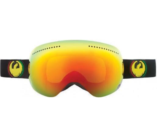 Ochelari Ski DRAGON APX Rasta Red Ionized / Yellow-BlueIonized