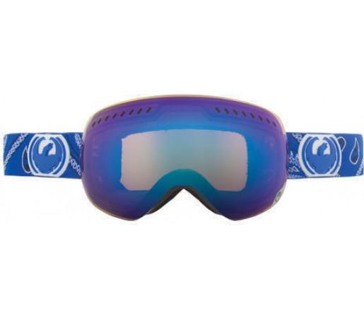 Ochelari Ski DRAGON APXS Blue Paisley Blue Steel / Yellow-BlueIonized