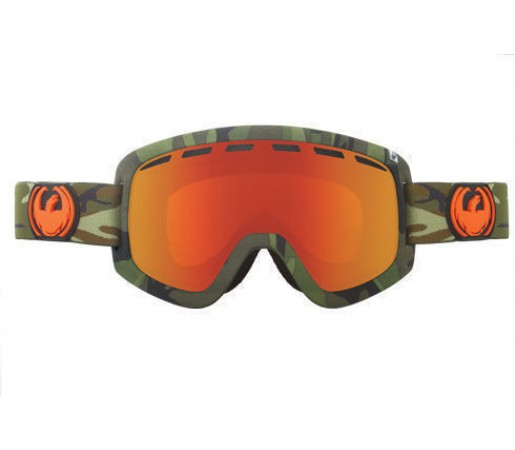 Ochelari Ski DRAGON D1 Camo Red Ionized / YellowBlueIonized
