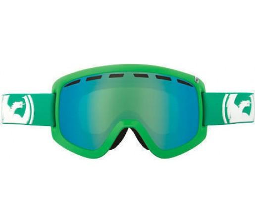 Ochelari Ski DRAGON D1 Solid Green-Green Ionized / Amber