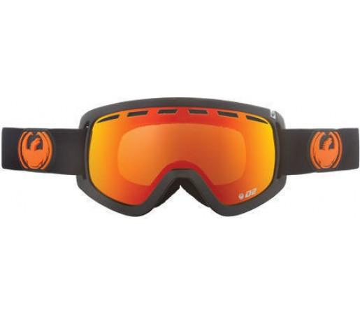 Ochelari Ski DRAGON D2 Jet Red Ionized /YellowBlueIonized