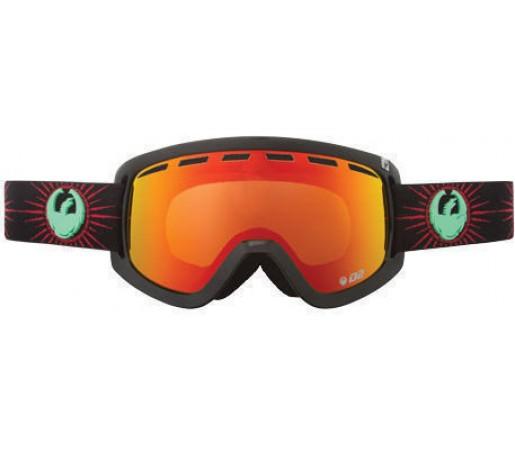 Ochelari Ski DRAGON D2 Palm Springs Red Ionized / YellowBlueIonized