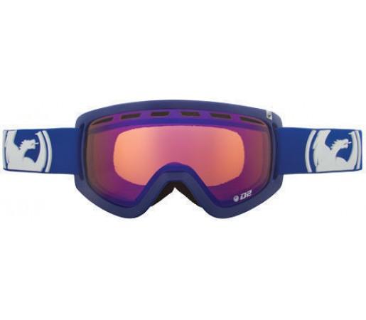 Ochelari Ski DRAGON D2 Solid Navy BlueSteel / Amber