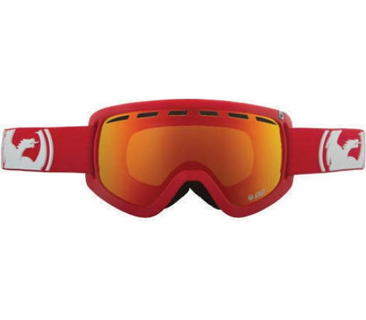 Ochelari Ski DRAGON D2 Solid Red -Red Ionized / Amber