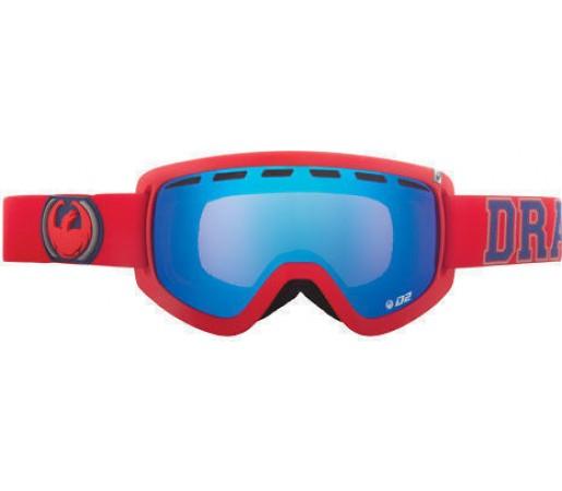 Ochelari Ski DRAGON D2 Team Spirit Blue Steel / YellowBlueIonized