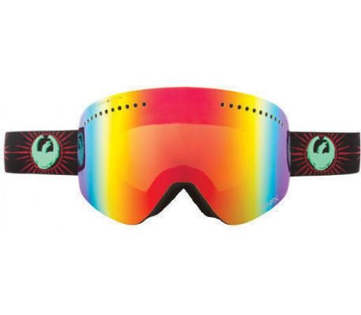 Ochelari Ski DRAGON NFX Palm Springs Red Ionized / YellowBlueIonized