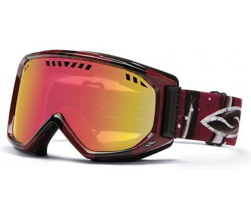 Ochelari Ski si Snowboard Smith SCOPE Oxblood Batik/ Red Sensor
