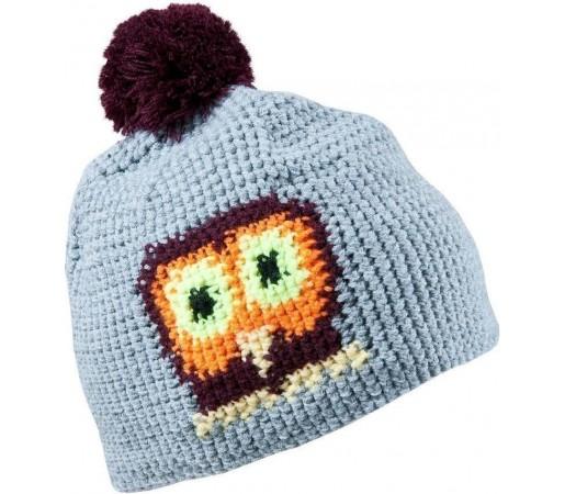 Caciula Kask Owl (Crochet Handmade) Light Grey 2013