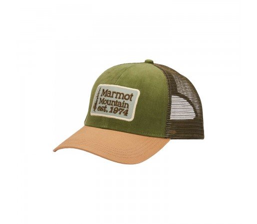 Sapca Marmot Retro Trucker Hat Nori Corduroy/Scotch (Multicolor)