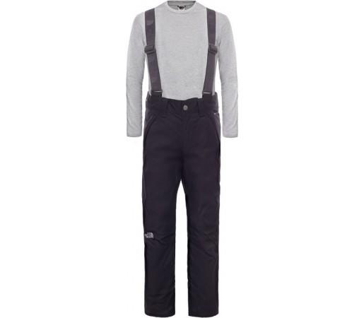 Pantaloni Schi si Snowboard The North Face B Snowquest Suspender Negri
