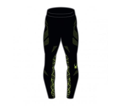 Pantaloni First Layer Spyder Boys Racer (Boxed) Negru/Verde