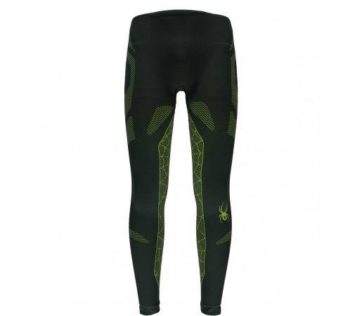 Pantaloni First Layer Spyder Captain (Boxed) Negru/Verde
