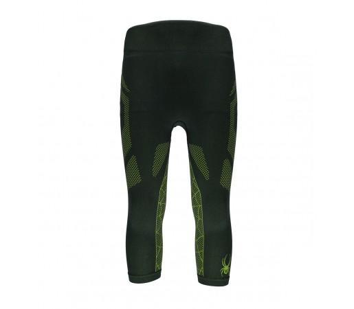 Pantaloni First Layer Spyder Captain (Boxed) 3/4 Negru/Verde