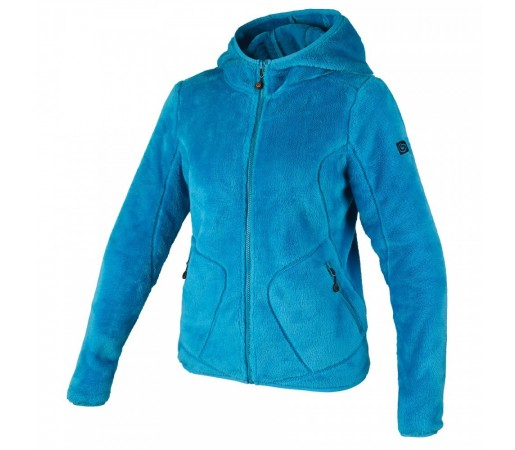 Polar Brekka Peluche Hooded Woman Turcoaz
