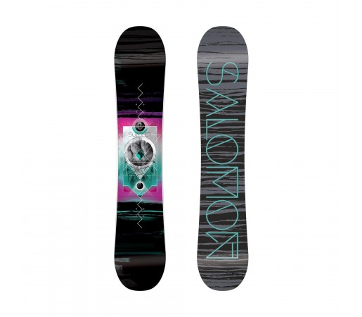 Placa Snowboard Salomon W Subject Neagra/Roz