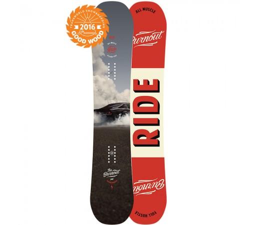 Placa snowboard Ride Burn Out Gri/ Rosie 2016