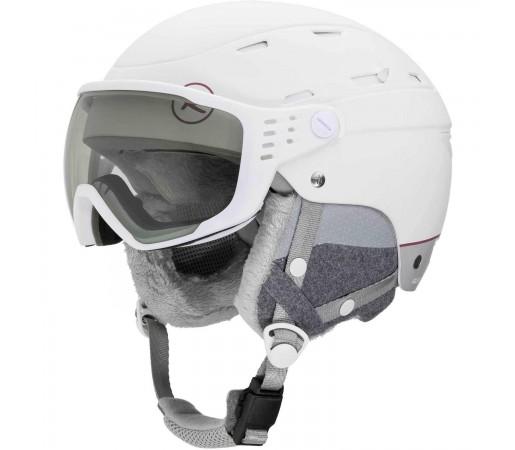 Casca Ski Femei Rossignol Allsped Visor Impacts W Photocromic (Alb)
