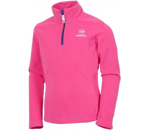 Midlayer Rossignol Girl 1/2 Zip Fleece Pink