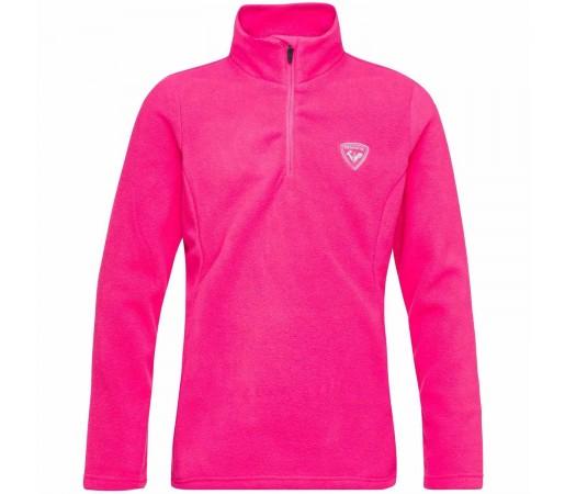 Bluza First Layer Copii Rossignol Girl 1/2 Zip Fleece Pink Fushia (Roz)