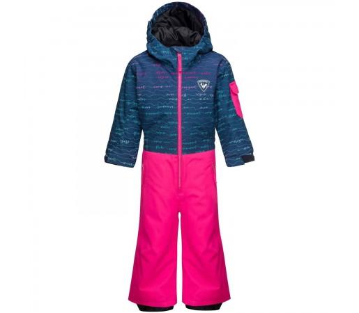Combinezon Copii Rossignol Kid Flocon Suit Girly Font (Roz)