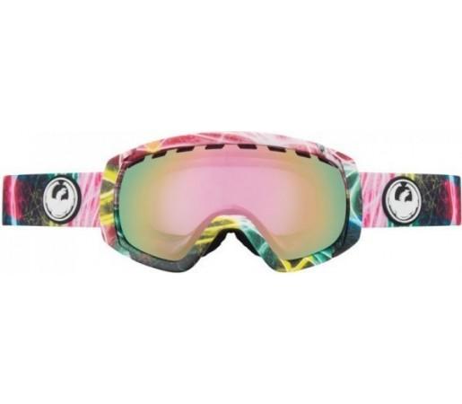 Ochelari Schi si Snowboard Dragon ROGUE  Light Snow / Pink Ion + Yellow